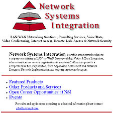 Network Systems Integration before Galatia